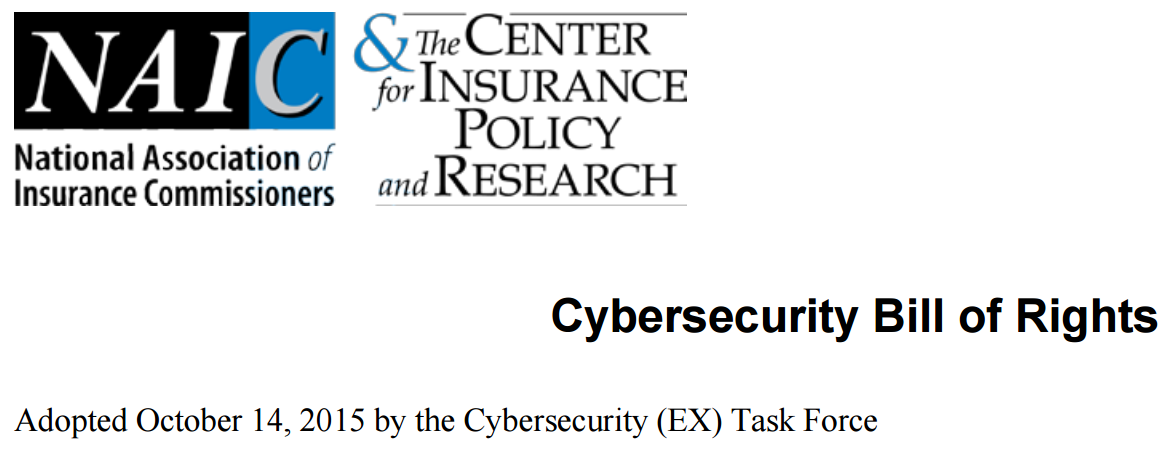 Cybersecurity Bill of Rights Adopted by NAIC | CarmeloWalsh com
